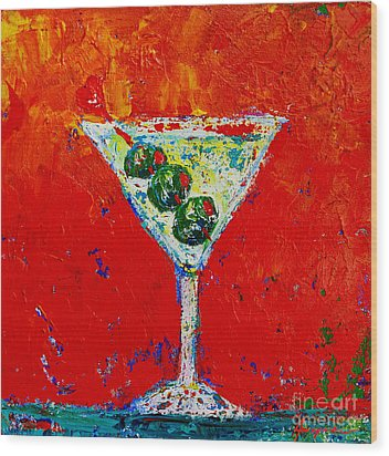 Vodka Martini Shaken Not Stirred - Martini Lovers - Modern Art Wood Print