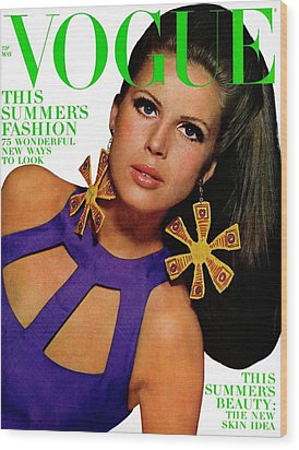 Vogue Cover Featuring Birgitta Af Klercker Wood Print by Bert Stern