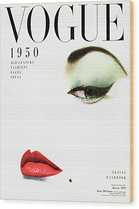 Vogue Cover Of Jean Patchett Wood Print by Erwin Blumenfeld
