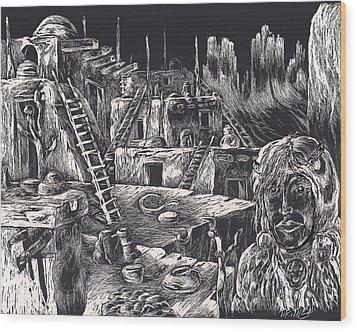 Voice Of Ancient Treasures Wood Print by Robert Tiritilli