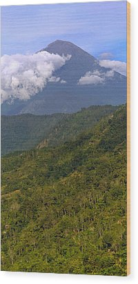 Wood Print featuring the photograph Volcano - Bali by Matthew Onheiber
