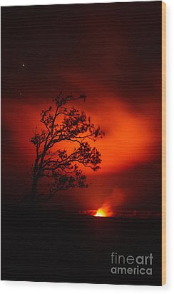 Volcano National Park Hawaii Wood Print