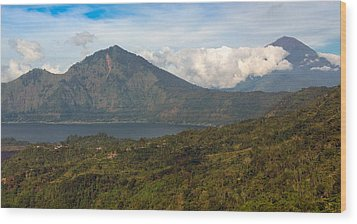Wood Print featuring the photograph Volcanoes - Bali by Matthew Onheiber