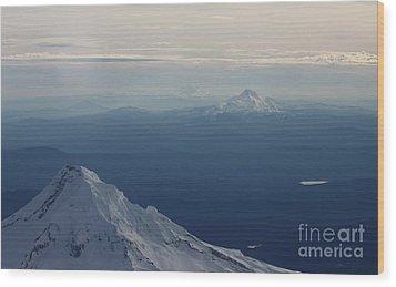 Volcanoes Wood Print by Erica Hanel