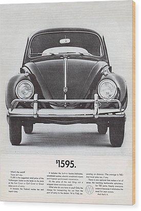 Volkswagen Beetle Wood Print by Georgia Fowler