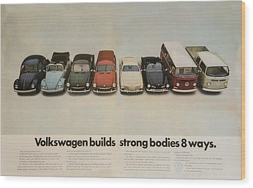 Volkswagen Body Facts Wood Print by Georgia Fowler