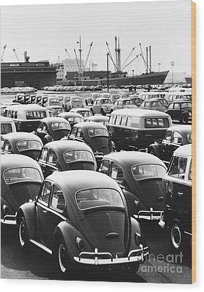 Volkswagen Shipment Wood Print by M E Warren