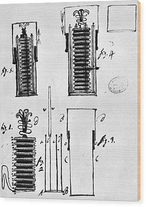 Voltaic Pile, 1801 Wood Print by Granger