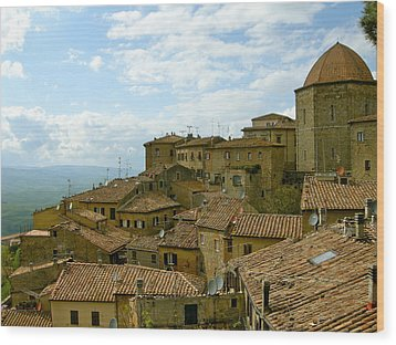 Wood Print featuring the photograph Volterra by Victoria Lakes