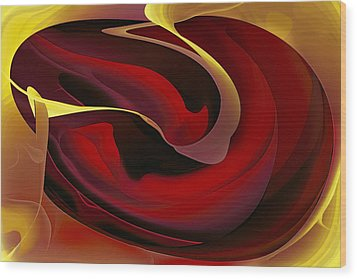 Voluptuous Wood Print by Diane Dugas