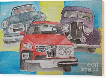 Volvo Nostalgi Wood Print by Eva Ason