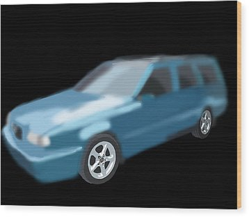 Volvo T5 Estate Wood Print by Tony Stark