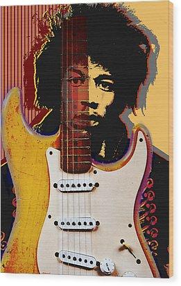 Jimi Hendrix Wood Print by Larry Butterworth