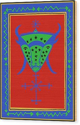 Voodoo Bosou Wood Print by Vagabond Folk Art - Virginia Vivier