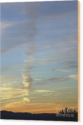 Vortex Cloud Wood Print by Marlene Rose Besso