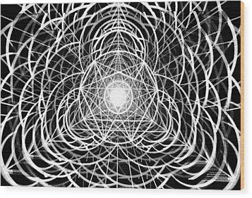 Wood Print featuring the drawing Vortex Equilibrium by Derek Gedney