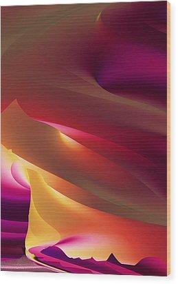 Vortex Of Light Wood Print