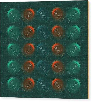 Vortices Wood Print by Anastasiya Malakhova
