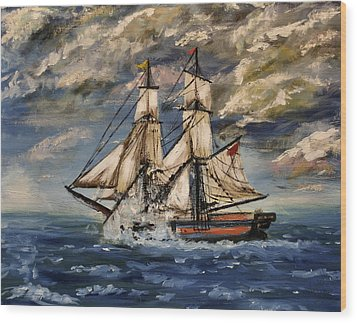 Voyage Of The Cloud Chaser Wood Print