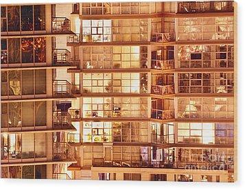 Wood Print featuring the photograph Voyeuristic Pleasures Cdxci by Amyn Nasser