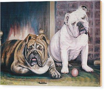 V's Bulldogs Wood Print by Melodye Whitaker