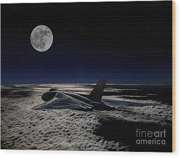 Vulcan At Night Wood Print by Paul Heasman