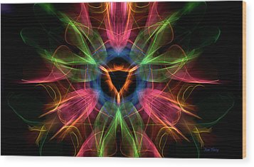 Vulva Galaxy Wood Print by Dan Terry