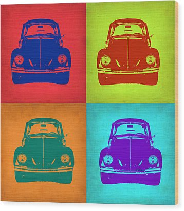 Vw Beetle Pop Art 5 Wood Print by Naxart Studio
