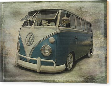 Vw Bus On Display Wood Print by Athena Mckinzie