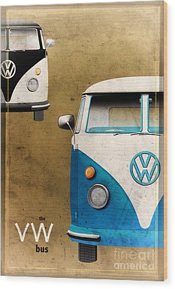 Vw The Bus Wood Print by Tim Gainey
