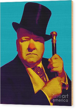 W C Fields 20130217m135 Wood Print by Wingsdomain Art and Photography