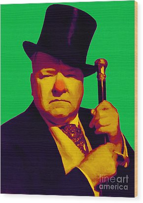 W C Fields 20130217p180 Wood Print by Wingsdomain Art and Photography