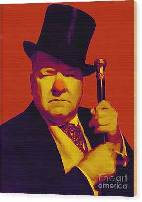 W C Fields 20130217p50 Wood Print by Wingsdomain Art and Photography