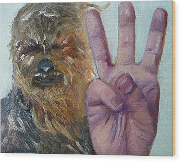 W Is For Wookie Wood Print