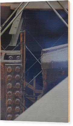 W T C Steel  Wood Print by Rob Hans