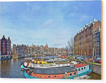 Waalseilandgracht Amsterdam Wood Print