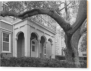 Wabash College Center Hall Wood Print by University Icons
