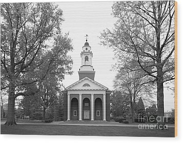 Wabash College Chapel Wood Print by University Icons