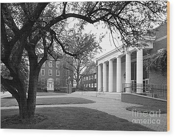Wabash College Sparks Center Wood Print by University Icons
