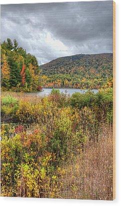 Wachusett Mt. In Autumn Wood Print