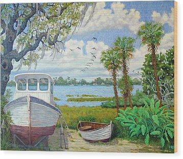 Wadmalaw Boats Wood Print