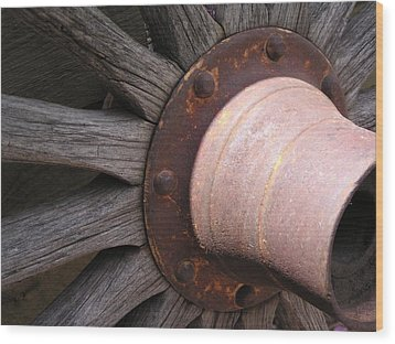 Wood Print featuring the photograph Wagon Wheel by Diane Alexander