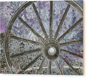 Wood Print featuring the photograph Wagon Wheel Study 1 by Sylvia Thornton