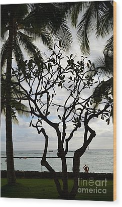 Waikiki Beach Hawaii Wood Print