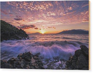 Wood Print featuring the photograph Wailea Glow by Hawaii  Fine Art Photography