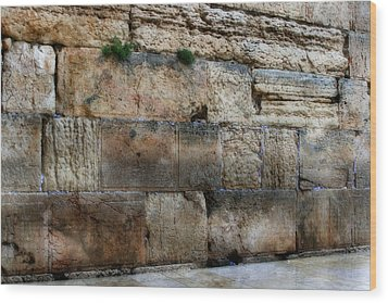 Wood Print featuring the photograph Wailing Wall In Israel by Doc Braham