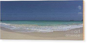 Waimanalo Beach Wood Print by Anthony Calleja
