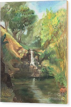 Waimea Falls Oahu Hawaii - 1970 Wood Print