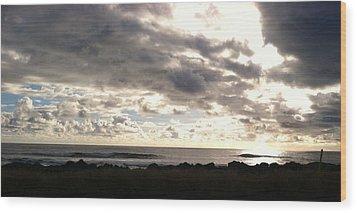 Waimea Sunset II Wood Print