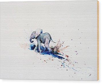 Wait For Me Wood Print by Zaira Dzhaubaeva